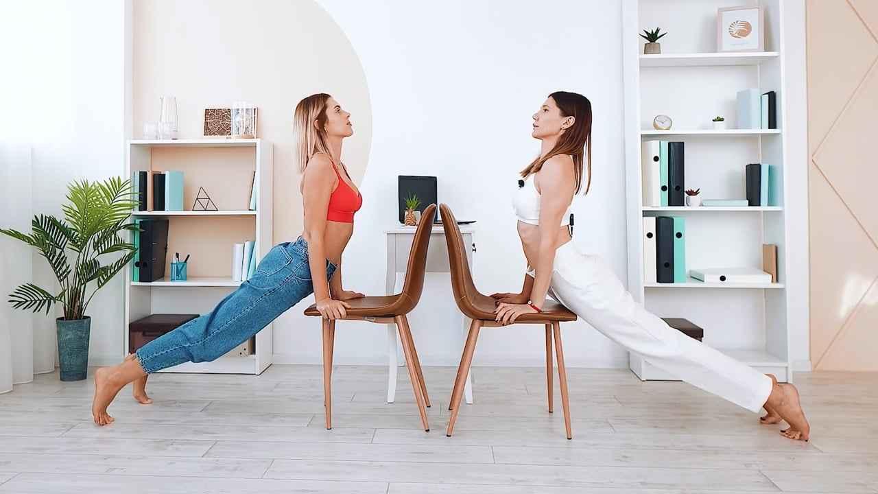 Йога зі стільцем